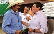 Reciben mil 500 productores de ocho municipios más de 16 mdp en insumos