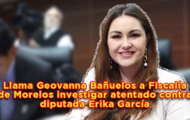 Video: Llama Geovanna Bañuelos a Fiscalía de Morelos investigar atentado contra diputada Erika García