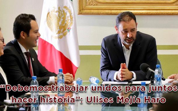 """Video: """"Debemos trabajar unidos para juntos hacer historia"""": Ulises Mejía Haro"""