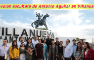 Video: Develan escultura de Antonio Aguilar en Villanueva