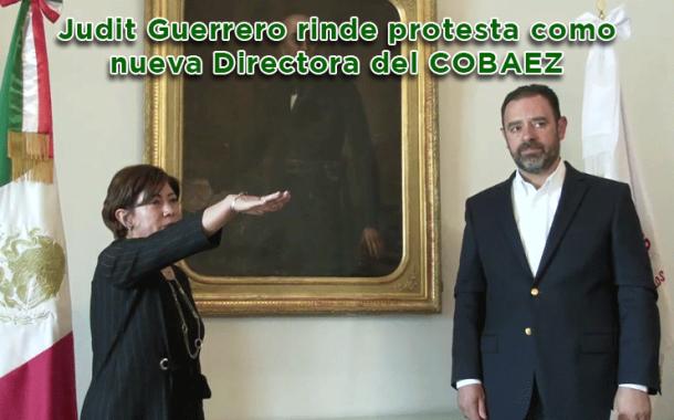 Video: Judit Guerrero rinde protesta como nueva Directora del COBAEZ