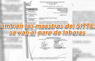 También los maestros del SITTEZ se van al paro de labores