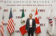 Ulises Mejía Haro lleva la voz de Zacatecas a la primera cumbre internacional de Alcaldes de América del Norte