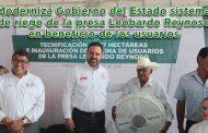 Video: Moderniza Gobierno del Estado sistema de riego de la presa Leobardo Reynoso