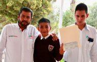 Estrategia UNE entrega obras de infraestructura social y becas en Zacatecas, Vetagrande y Pánuco