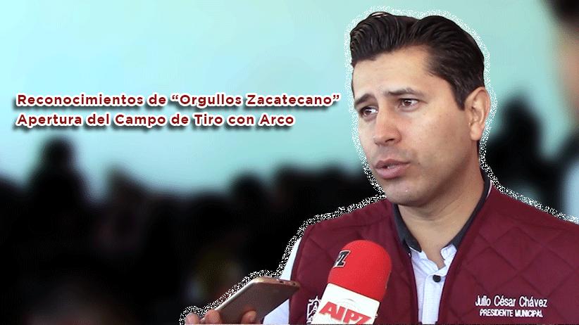 """Video: Reconocimientos de """"Orgullos Zacatecano"""" y apertura del Campo de Tiro con Arco"""