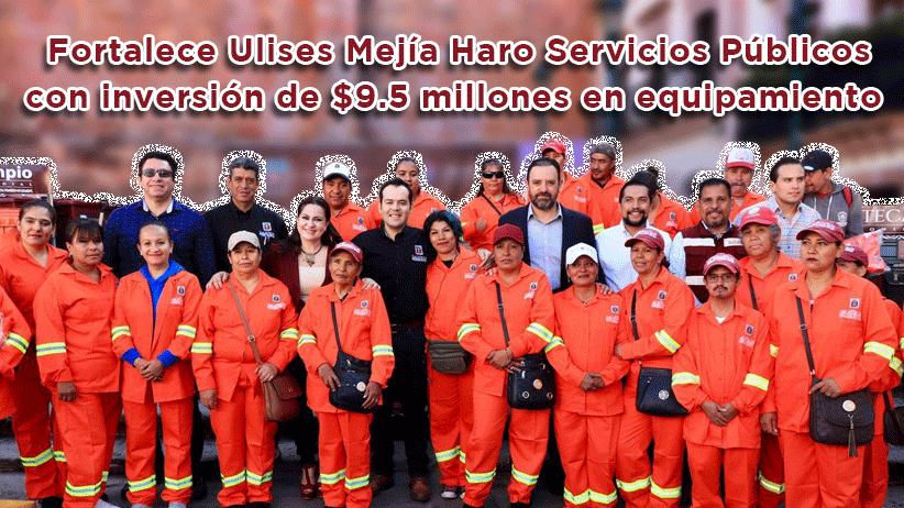 Video: Fortalece Ulises Mejía Haro Servicios Públicos con inversión de $9.5 millones en equipamiento