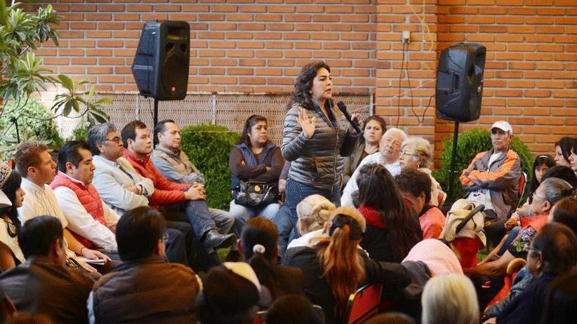 Queremos que el PRI deje de callar, queremos un partido que levante la voz: priistas del sur de la Ciudad de México