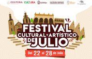 Presenta Guadalupe el Primer Festival Cultural  y Artístico de Julio