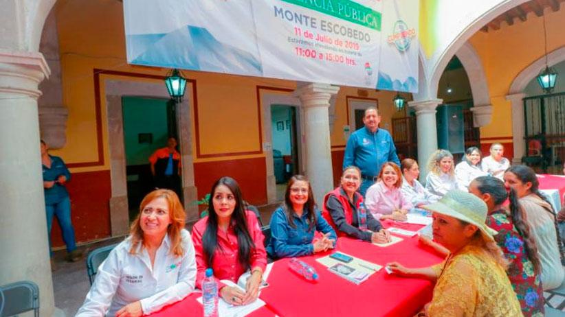 Participan en audiencia pública cerca de 600 habitantes de Monte Escobedo