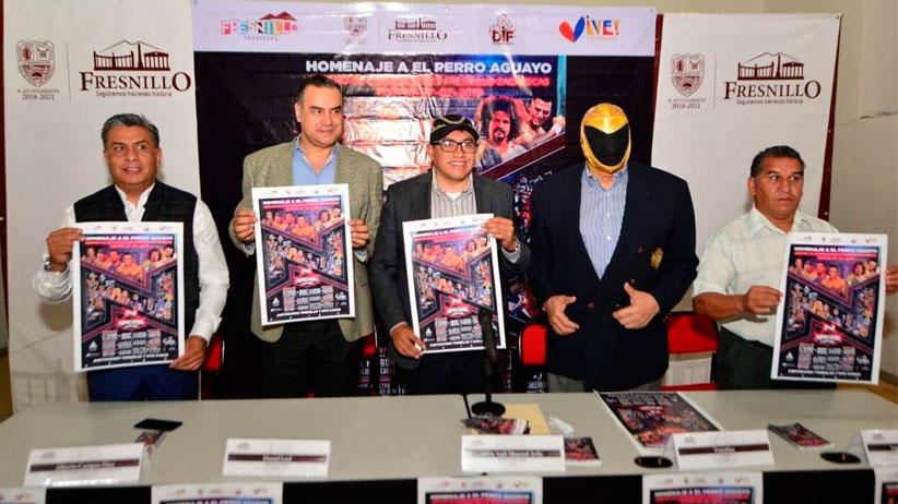 Vienen grandes luchadores a Fresnillo para realizar homenaje al Perro Aguayo