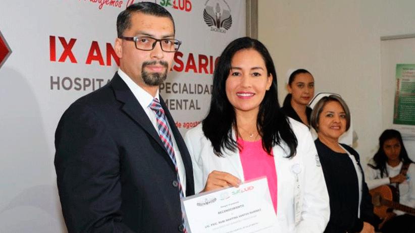Conmemoran noveno aniversario del hospital de especialidades en salud mental