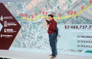 A menos de un año de administración  cumple Julio César Chávez con La Zacatecana:  entrega colector de aguas residuales