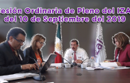Sesión Ordinaria de Pleno del IZAI del 10 de Septiembre del 2019