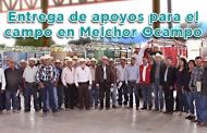 Video: Entrega de apoyos para el campo en Melchor Ocampo, Zac.
