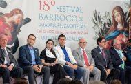Inicia edición 18 del Festival Barroco de Guadalupe