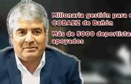 Video: Millonaria gestión para COBAEZ de Bañón y más de cinco mil deportistas apoyados