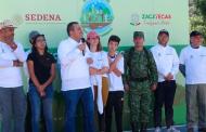 Unen esfuerzos Gobierno y SEDENA para reforestar el Ecoparque Centenario