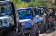 Registra 250 participantes y más de 90 vehículos la 8a jeepeada en Paraíso Caxcán