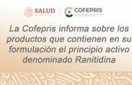 SSZ y COFEPRIS alertan sobre consumo de Ranitidina