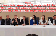 En vivo: Conferencia de prensa de las Dirigencias del PRI, PAN, PRD, Movimiento Ciudadano, Legisladores Federales y Alcaldes de Oposición, sobre el presupuesto 2020
