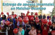 Video: Entrega de apoyos invernales en Melchor Ocampo
