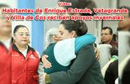 Video: Habitantes de Enrique Estrada, Vetagrande y Villa de Cos reciben apoyos invernales