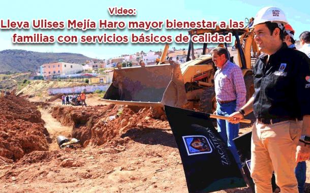 Lleva Ulises Mejía Haro mayor bienestar a las familias con servicios básicos de calidad
