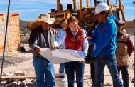 Supervisa delegada de Programas para el Desarrollo, Verónica Díaz, construcción de Universidad para el Bienestar en Pinos