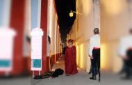 Inauguran iluminación escénica del callejón del beso en el Pueblo Mágico de Pinos