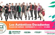 Los Auténticos Decadentes se presentarán en el Festival Cultural Zacatecas 2020