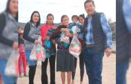 Continúa con éxito la entrega de apoyos invernales en Mazapil