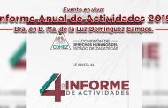 Evento en vivo: Informe Anual de Actividades 2019 de la Dra. en D. Ma. de la Luz Domínguez Campos