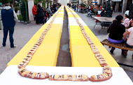 Con monumental rosca clausuran Carnaval Navideño 2019 en Villanueva