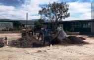 Inicia la construcción de domo en COBAEZ plantel Apozol