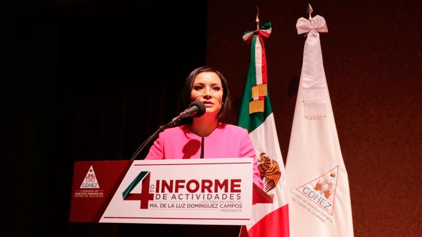 La Presidenta de la CDHEZ rinde su Cuarto Informe de Actividades 2019