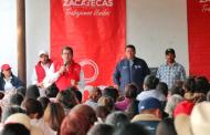 Beneficia SEDESOL a familias de 10 comunidades de Fresnillo