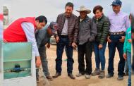 Gobierno de Tello mejora calidad de vida de familias de Mazapil al dotarlas de agua potable