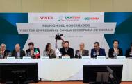 Acuerdan trabajo conjunto iniciativa privada de Zacatecas y Secretaría de energía