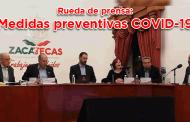 Rueda de prensa: Medidas preventivas COVID-19