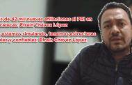 Más de 42 mil nuevas afiliaciones al PRI en Zacatecas: Efraín Chávez López