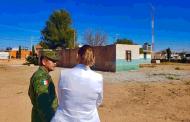 Supervisa delegada de Programas para el Desarrollo, Verónica Díaz, terrenos donde se construirán Bancos del Bienestar