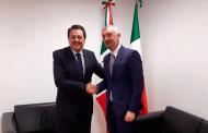 Se reúne Femat con Embajador de Italia, coinciden en temas medioambientales