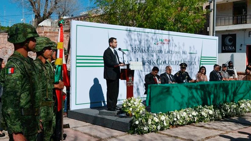 Conmemoran autoridades CXXXIX Aniversario luctuoso del General J. Jesús González Ortega