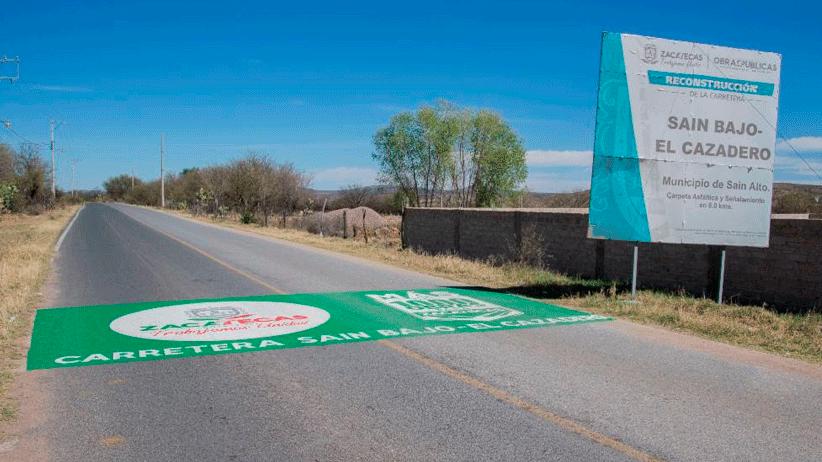 Inauguran tramos carreteros en Sain Alto