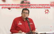 En vivo  Presentación de la estrategia de apoyos y programas para grupos vulnerables por parte de la Sedesol Estatal.