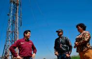 Supervisa Julio César Chávez  perforación de pozo en El Bordo
