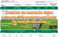 Entérate de cuanto te debe cobrar la CFE según tu consumo de energía eléctrica.