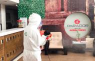 Sanitizan instalaciones del Hotel Parador