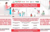 Ofrece Sector Salud apoyo psicológico a zacatecanos durante contingencia sanitaria.